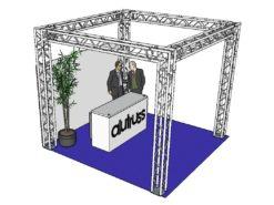 ALUTRUSS Truss set QUADLOCK 6082 square 4x4x3.5m (WxDxH)