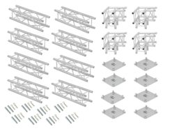 ALUTRUSS Truss set QUADLOCK 6082 square 4x4x3.5m (WxDxH)