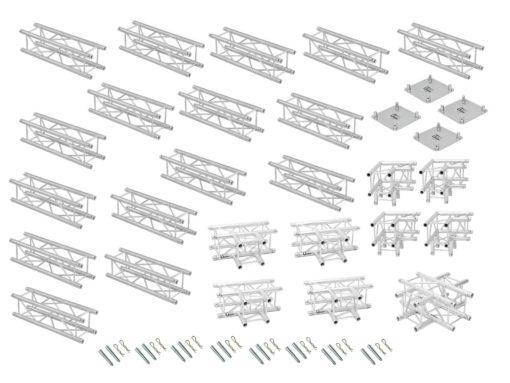 ALUTRUSS Truss set QUADLOCK 6082 square 7.71x7.71x3.5m (WxDxH)