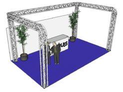 ALUTRUSS Truss set QUADLOCK 6082R U-Figure 7x4x3.5m (WxDxH)