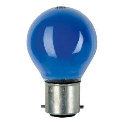 BC Bulb Showtec, B22 G45 240V 15W, blu