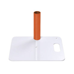 Baseplate 350(l) x 300(w)mm - 4Kg, Bianco (verniciato a polvere)