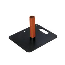 Baseplate 350(l) x 300(w)mm - 4Kg, Nero (verniciato a polvere)