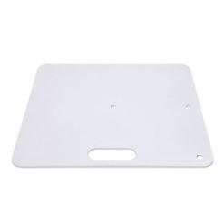 Baseplate 450(l) x 450(w)mm - 8Kg, Bianco (verniciato a polvere)