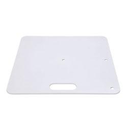 Baseplate 600(l) x 600(w)mm - 14Kg, Bianco (verniciato a polvere)