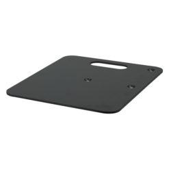 Baseplate 600(l) x 600(w)mm - 14Kg, Nero (verniciato a polvere)