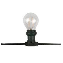 Belt Light E27, Black cable IP44, 50m, senza lampade