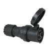 CEE 125A 400V 5p Plug Female Nero, IP67