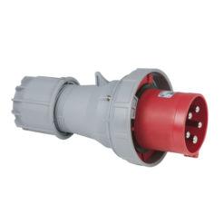 CEE 125A 400V 5p Plug Male Rosso, IP67