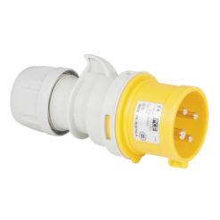 CEE 16A 110V 4p Plug Male Giallo, IP44