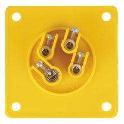 CEE 16A 110V 4p Socket Male Giallo, IP44