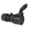 CEE 16A 240V 3p Plug Female Nero, IP44