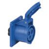 CEE 16A 240V 3p Socket Female Blu, IP44
