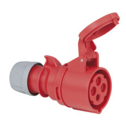 CEE 16A 400V 4p Plug Female Rosso, IP44