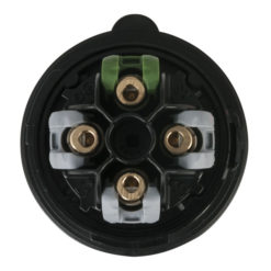 CEE 16A 400V 4p Plug Male Nero, Turbo Twist, IP44