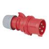 CEE 16A 400V 4p Plug Male Rosso, IP44