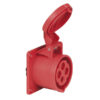 CEE 16A 400V 4p Socket Female Rosso, IP44