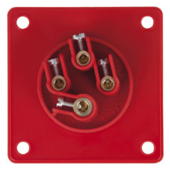 CEE 16A 400V 4p Socket Male Rosso, IP44