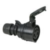 CEE 16A 400V 5p Plug Female Nero, Turbo |Twist, IP44