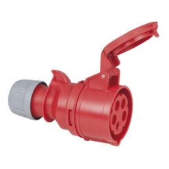 CEE 16A 400V 5p Plug Female Rosso, IP44