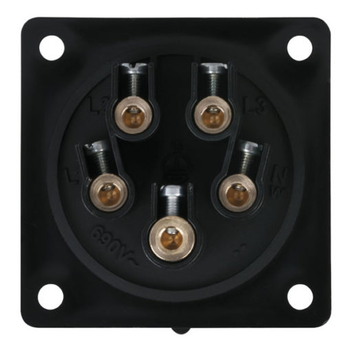 CEE 16A 400V 5p Socket Female Nero, IP44