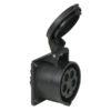 CEE 16A 400V 5p Socket Female Nero, IP44