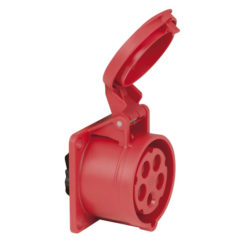 CEE 16A 400V 5p Socket Female Rosso, IP44