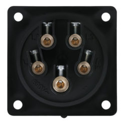 CEE 16A 400V 5p Socket Male Nero, IP44