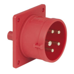 CEE 16A 400V 5p Socket Male Rosso, IP44
