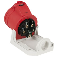 CEE 16A 400V 5p Wallmount Female Rosso, IP44