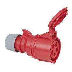 CEE 32A 400V 5p Plug Female Rosso, IP44