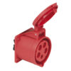 CEE 32A 400V 5p Socket Female Rosso, IP44