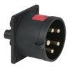 CEE 32A 400V 5p Socket Male Nero, IP44