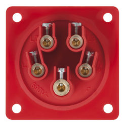 CEE 32A 400V 5p Socket Male Rosso, IP44