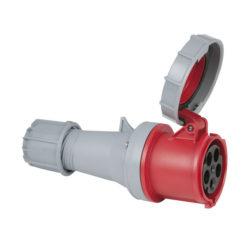 CEE 63A 400V 5p Plug Female Rosso, IP67
