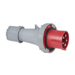 CEE 63A 400V 5p Plug Male Rosso, IP67