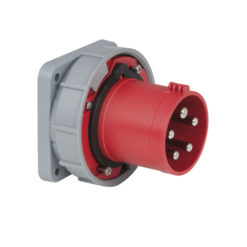 CEE 63A 400V 5p Socket Male Rosso, IP67
