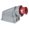 CEE 63A 400V 5p Wallmount Male Rosso, IP67