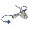 CO2 3/8 Q-lock release valve