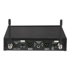 COM-42 Set microfono wireless UHF, 2 canali
