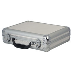 Case for 7 Microphones Argento con nervatura