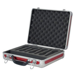 Case for 7 Microphones Rosso