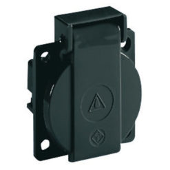 Chassis connector with cover