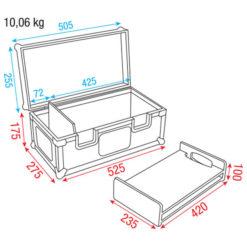 Conical Adapter Case I Per 48 adattatori