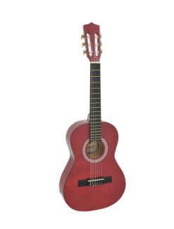 DIMAVERY AC-303 Classical Guitar 1/2, red