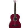 DIMAVERY AC-303 Classical Guitar, red