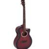 DIMAVERY AW-400 Western guitar, redburst