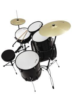DIMAVERY DS-200 Drum set, black