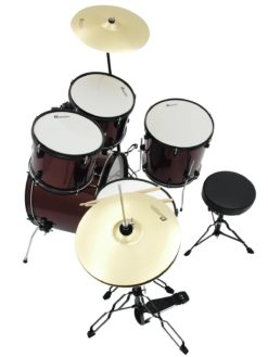 DIMAVERY DS-200 Drum set, wine red
