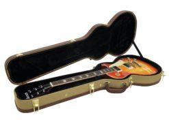 DIMAVERY Form case E-guitar LP, tweed